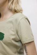 Glida, T-shirt Light Sage/Forest green